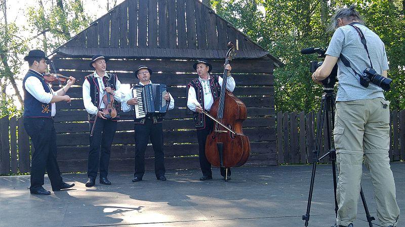 File:Folklore music group 'Pastrnoci' from Stará Ľubovňa,recorded by museum worker.jpg