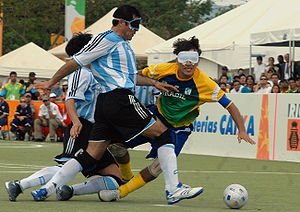 Paralympic association football - Brazil vs. Argentina in the Final of the Football for 5 at the 2007 Parapan American Games in Rio de Janeiro