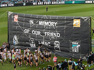 John McCarthy (Australian rules footballer, born 1989) - Commemorative banner