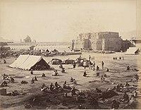 Forces from British India camping at Kandahar