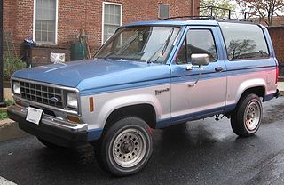 Ford Bronco II Compact sport utility vehicle manufactured by Ford