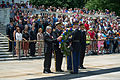 Foreground, from left, Secretary of the Army John McHugh; U.S. Army Gen. Ray Odierno, the chief of staff of the Army; and Sgt. Maj. of the Army Raymond F. Chandler III lay a wreath at the Tomb of the Unknowns 130614-A-AO884-081.jpg
