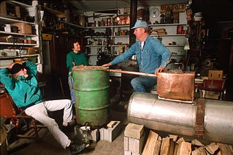 Moonshine - Former West Virginia moonshiner John Bowman explains the workings of a still. November 1996. American Folklife Center