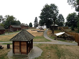 Fort Langley National Historic Site - View from inside Fort Langley National Historic Site