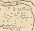 Fort George, Brunswick, Maine by Cyprian Southack, 1720 map inset.png