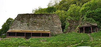 Dartmouth Castle - Remains of the fortalice wall