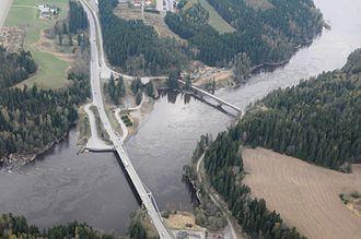 Fossum Bridge - Aerial view of Fossum Bridge