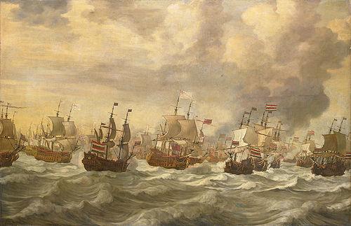 Four Day Battle - Episode uit de vierdaagse zeeslag (Willem van de Velde I, 1693).jpg