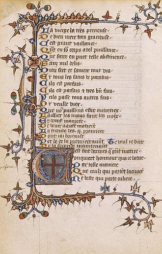 Geoffroi de Charny - Français 25447, Bibliothèque nationale de France, Département des Manuscrits, Division occidentale