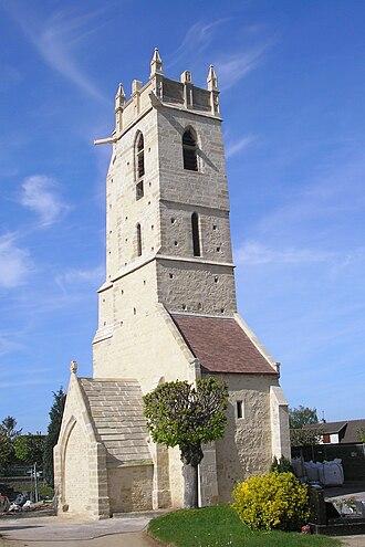 Ranville - Image: France Normandie Ranville Eglise Clocher