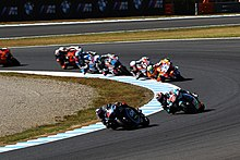 Francesco Bagnaia leads the pack 2018 Motegi.jpg