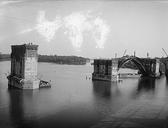 Key Bridge (Washington, D.C.) - Key Bridge under construction, c. 1920