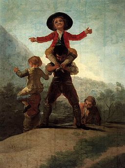 Francisco de Goya y Lucientes - Playing at Giants - WGA10011