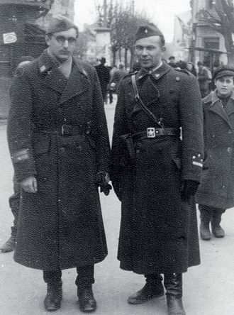 Joža Horvat - Joža Horvat (right) and Franjo Tuđman in February 1945