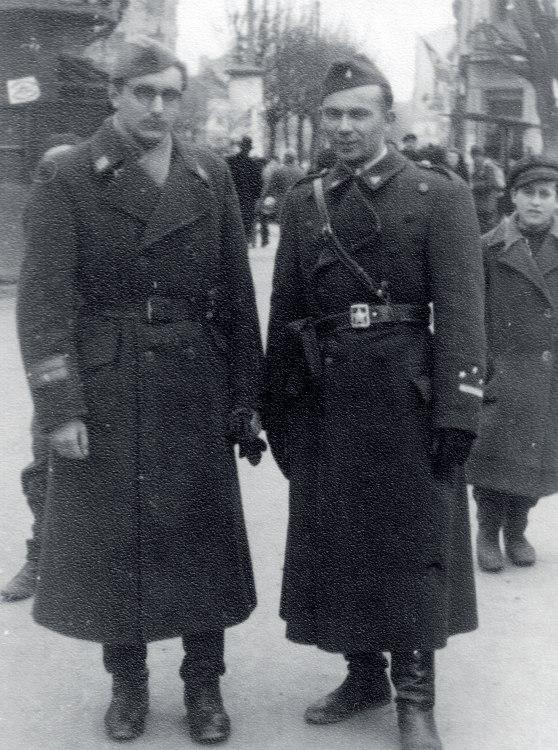 Franjo Tuđman i Joža Horvat 1945