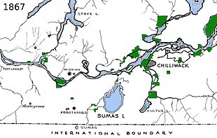 map of the Fraser Valley