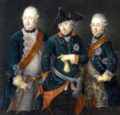 Frederick the Great, Frederick William II, King of Prussia and Henry of Prussia.png