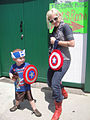 Free Comic Book Day 2012 - mom and son ready for battle (7186410518).jpg
