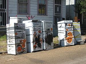 Katrina refrigerator - Refrigerators with Halloween theme