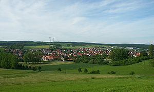 Friedewald, Hesse - View over Friedewald from the slopes of the Dreienberg
