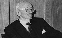 Friedrich August von Hayek, 27th January 1981, the 50th Anniversary of his first lecture at LSE, 1981.jpg