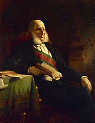 House of Lords (Austria) - Anton von Schmerling, President of the House of Lords from 1871, painting by Friedrich von Amerling