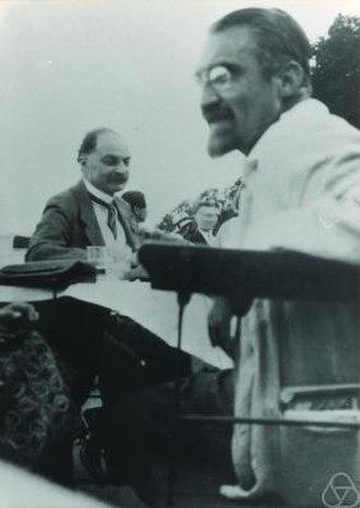 Heinrich Franz Friedrich Tietze - Heinrich Tietze (right), with Friedrich Hartogs