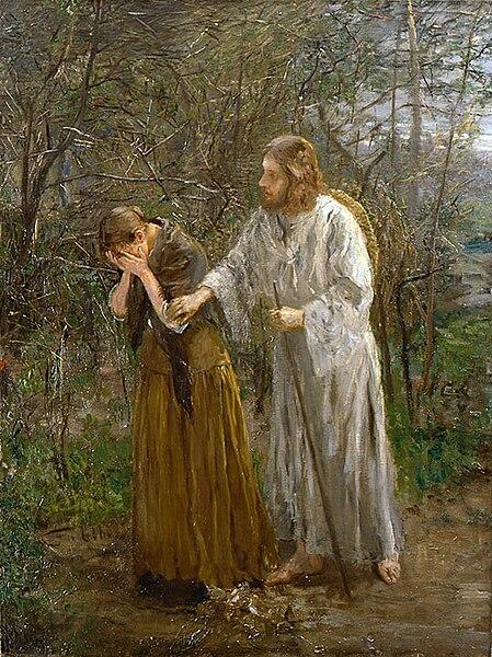 File:Fritz von Uhde - Weib, warum weinest du (1892-94).jpg