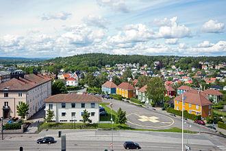 Magnus Carlsen - A view of Tønsberg from the Tønsberg Hospital, where Carlsen was born