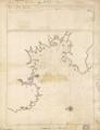 Fuerte Real y su bahía situado en la Ysla Martinica en la pate (sic) del oeste de la dha. en la latitu. de 14⁰ y 36⁰⁰ norte y en 376⁰ y 14⁰⁰, meridiano de Tenerife. LCCN 90683858.png