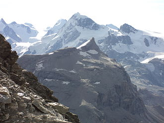 Furggen - View of the Furggen with the Breithorn in the background