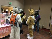 Fursuiters at Furry Unlocked 2015