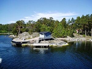 Gällnönäs brygga, pier, Stockholm archipelago,...