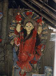 Göttin Manasa in Lehm
