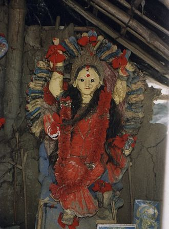 Manasa - Mud idol of Manasa in the Sundarbans, West Bengal, India.