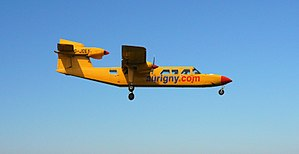 2007 Alderney UFO sighting - An Aurigny Air Britten-Norman Trislander similar to the aircraft involved in the incident