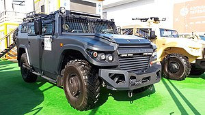 "GAZ ""Tigr"" (black colored) during the ""Armiya 2020"" exhibition.jpg"
