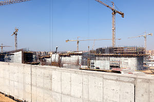Grand Egyptian Museum - The museum under construction, April 2015
