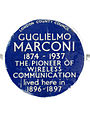 GUGLIELMO MARCONI 1874-1937 THE PIONEER OF WIRELESS COMMUNICATION lived here in 1896-1897.jpg