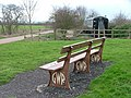 GWR bench by cafe on greenway - geograph.org.uk - 354189.jpg