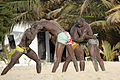 Gambian wrestlers on the beach (11135266145).jpg