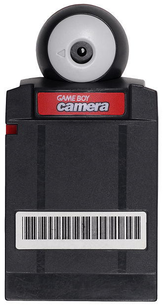 Game Boy Camera - A red Game Boy Camera.  Various other colors were also available.