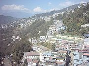 Gangtok from cable car