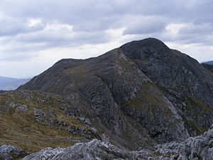 Garbh Bheinn - The main summit of Garbh Bheinn seen from its south east top