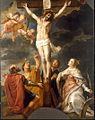 Gaspar de Crayer - Christ on the cross with four saints.jpg