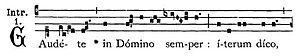 Gaudete Sunday - The incipit for the Gregorian chant introit from which Gaudete Sunday gets its name.