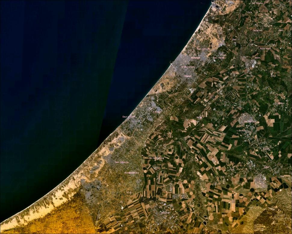 Gaza Strip NASA