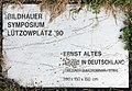 Gedenktafel Lützowplatz (Tierg) 3-X-90 in Deutschland Ernst Altes 1990.jpg