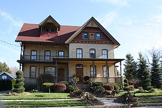 National Register of Historic Places listings in Winnebago County, Wisconsin - Image: George Sr And Ellen Banta House Menasha WI