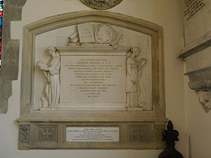 George Butler (headmaster) - George Butler memorial, St Mary's, Harrow on the Hill